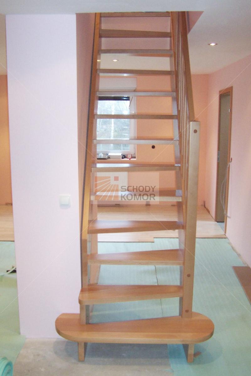 Rewelacyjny wąskie schody jednobiegowe proste bukowe - Nowoczesne schody TX61